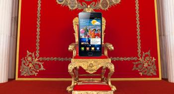 Samsung overtar smarttelefontronen