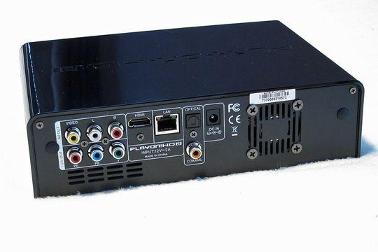 Tilkoblingene bak på HD2.