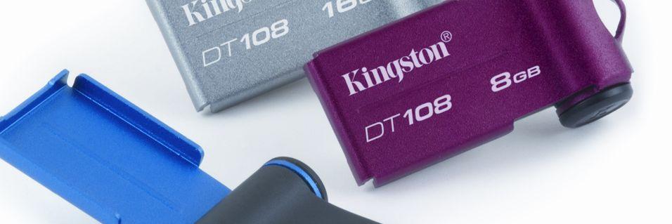 Små og fargerike minnepinner fra Kingston