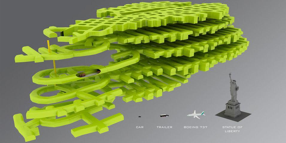 Modell av Lefdal gruve. Foto, toppbilde og ingressbilde: Lefdalgruve.no