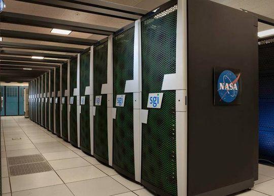 Den nye superdatamaskinen vil se omtrent slik ut, når den blir installert i datahallen ved NTNU i løpet av høsten. Foto: SGI