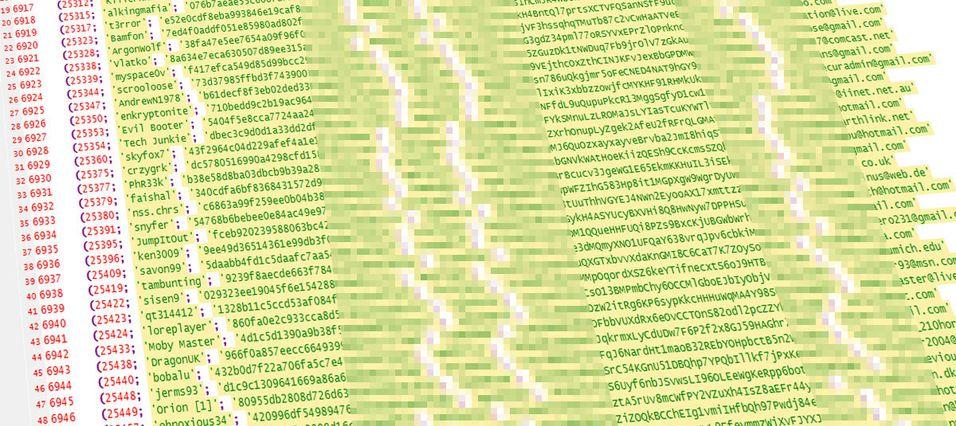 Listene som nå ligger fritt tilgjengelig på nett omfatter hele 800 000 sett med personopplysninger.