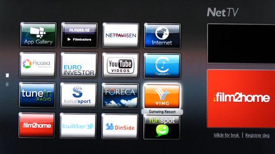 Forside Net TV