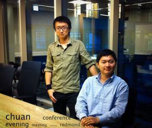 Chuan Qin (venstre) og Xuan Bao, (høyre). Foto: Qin, Bao