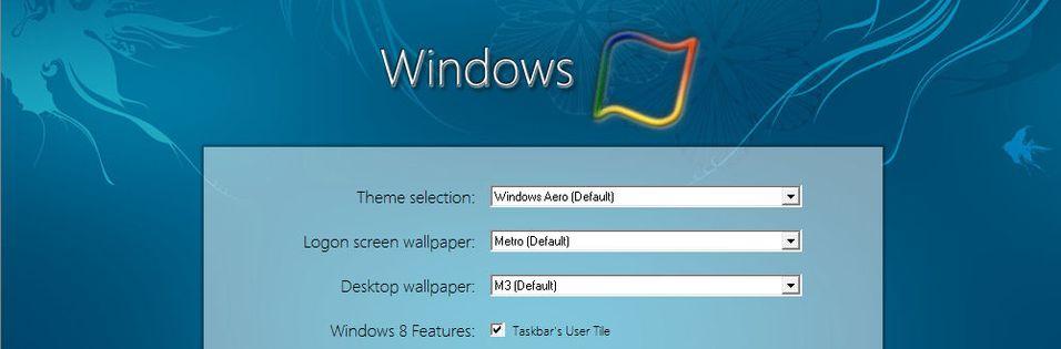 Windows 8-tema allerede tilgjenglig