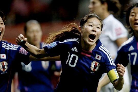 Ingen andre begivenheter har generert så mange tweets som kvinnenes VM-finale. Homare Sawa feirer utligningsmålet som førte til straffesparkkonkurranse og japans seier. Foto: FIFA.com