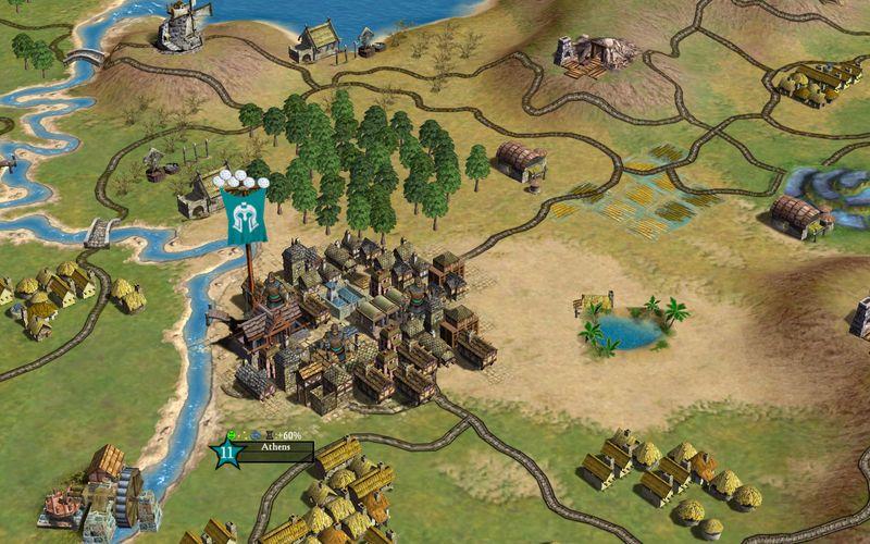 En liten by omgitt av landsbyer