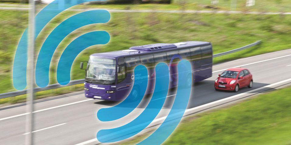 TEST: Internett på sørlandsbussene