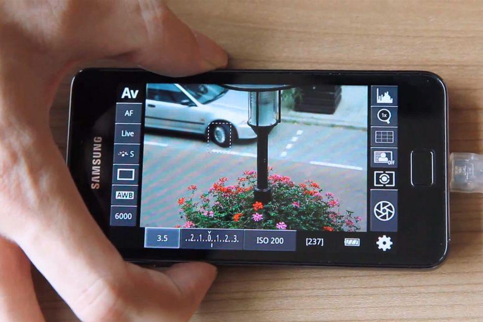Kontroller speilrefleksen fra Android-telefonen