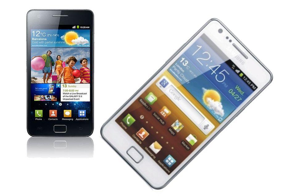 Samsung Galaxy SII blir hvit