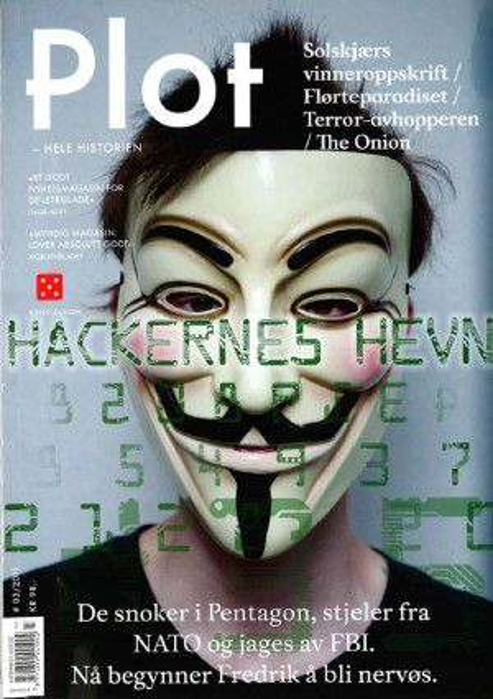 AVSLØRER: Magasinet Plot avslører i dag hvordan hackerne i Norge opererer. (faksimile Plot)