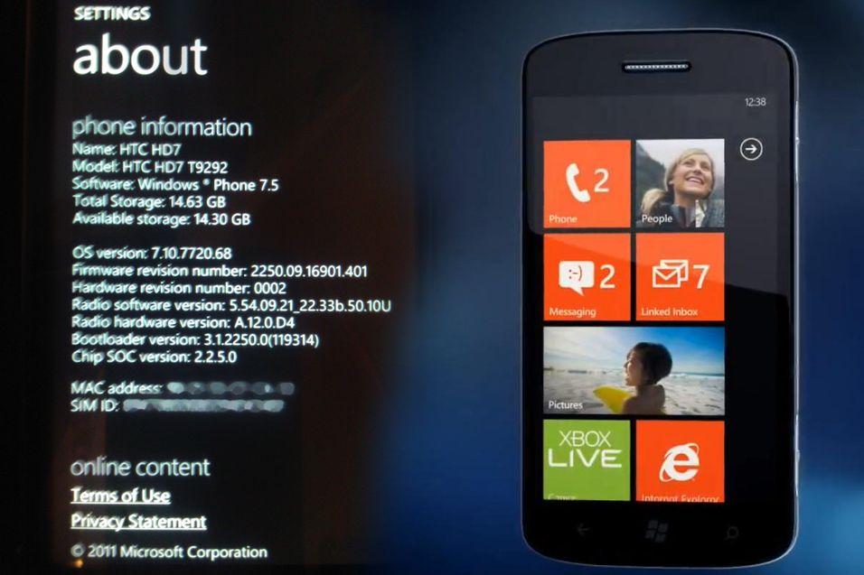 Nyeste Windows Phone 7-oppdatering lekket