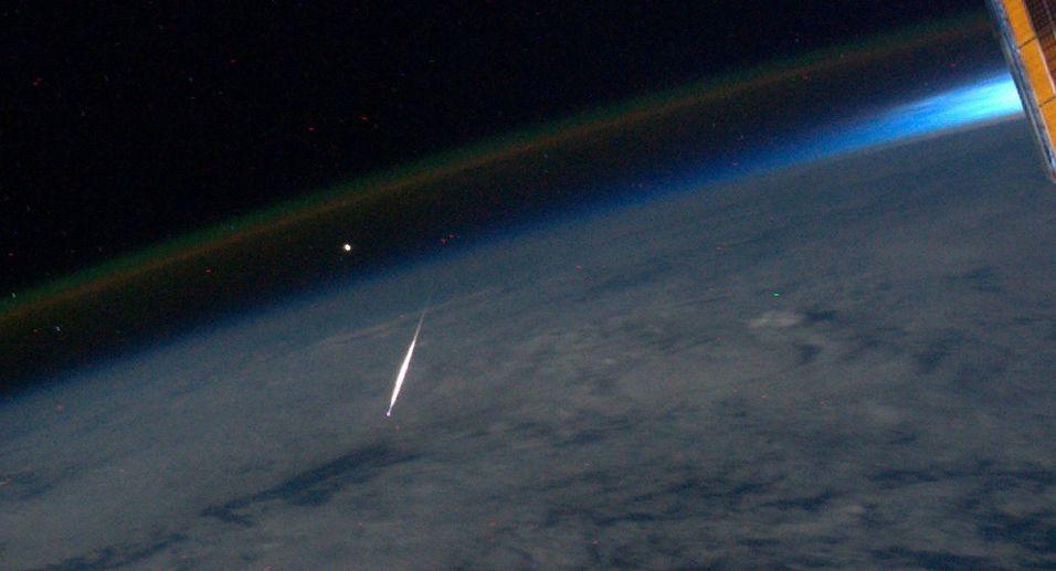 Fotograferte meteor fra verdensrommet