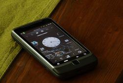 Dette er vår rootede HTC Desire Z med CyanogenMod 7.1.0 RC1. (Foto: Einar Eriksen)