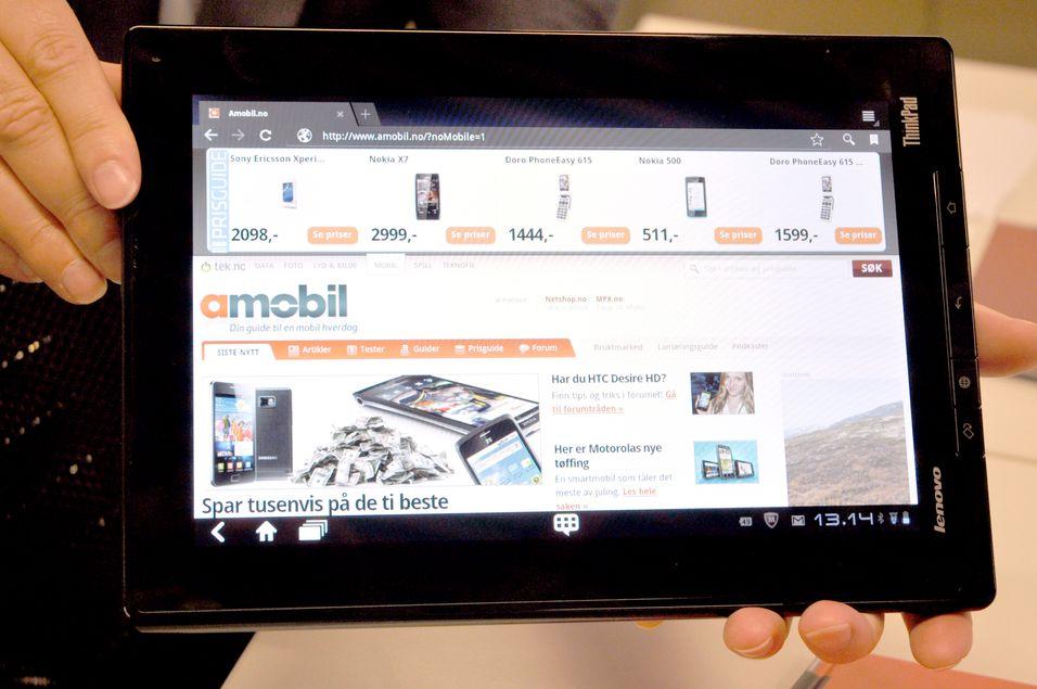 ThinkPad Tablet er et av få Honeycomb-brett som har fysiske knapper.