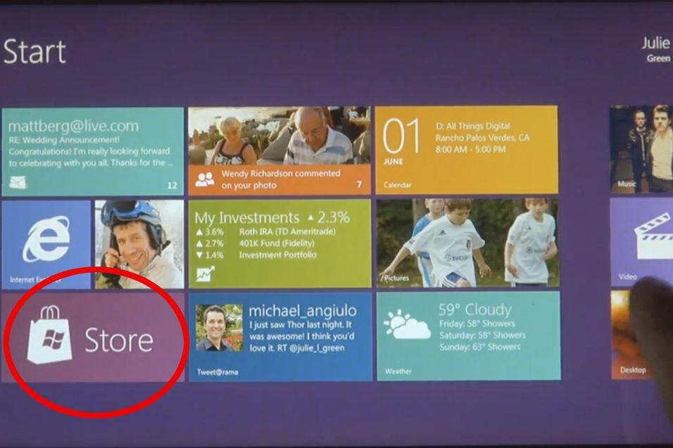 Nå har Microsoft endelig bekreftet ryktene fra juni - det  blir  en applikasjonsbutikk i Windows 8.