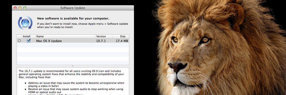 Apple oppdaterer OS X Lion