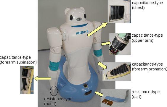 Her forklarer produsenten noe av teknologien bak RIBA. Foto: Riken.
