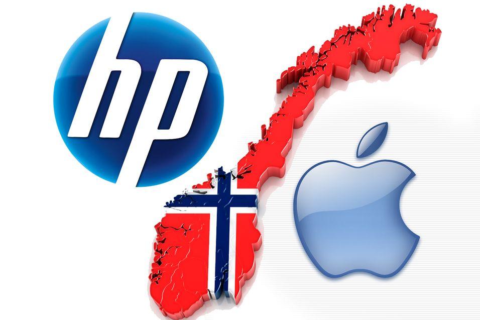 HP og Apple fosser frem på norske PC-markedet