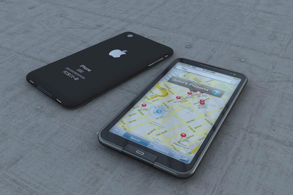 Ingen vet hvordan Apples nye mobil vil se ut, men mange har likevel prøvd å gjette. Her er et konseptbildet som har versert på nettet en god stund.