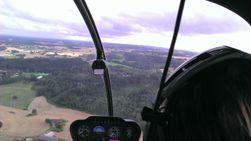 Utsikten fra helikopteret er imponerende. Her er den fanget på et 2D-bilde fra HTC EVO 3D.