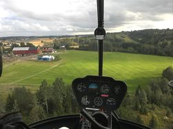 Utsikten fra helikopteret fanget med Optimus 3D - i 2D.