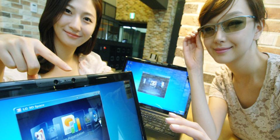 LG slipper laptop med 3D-kamera