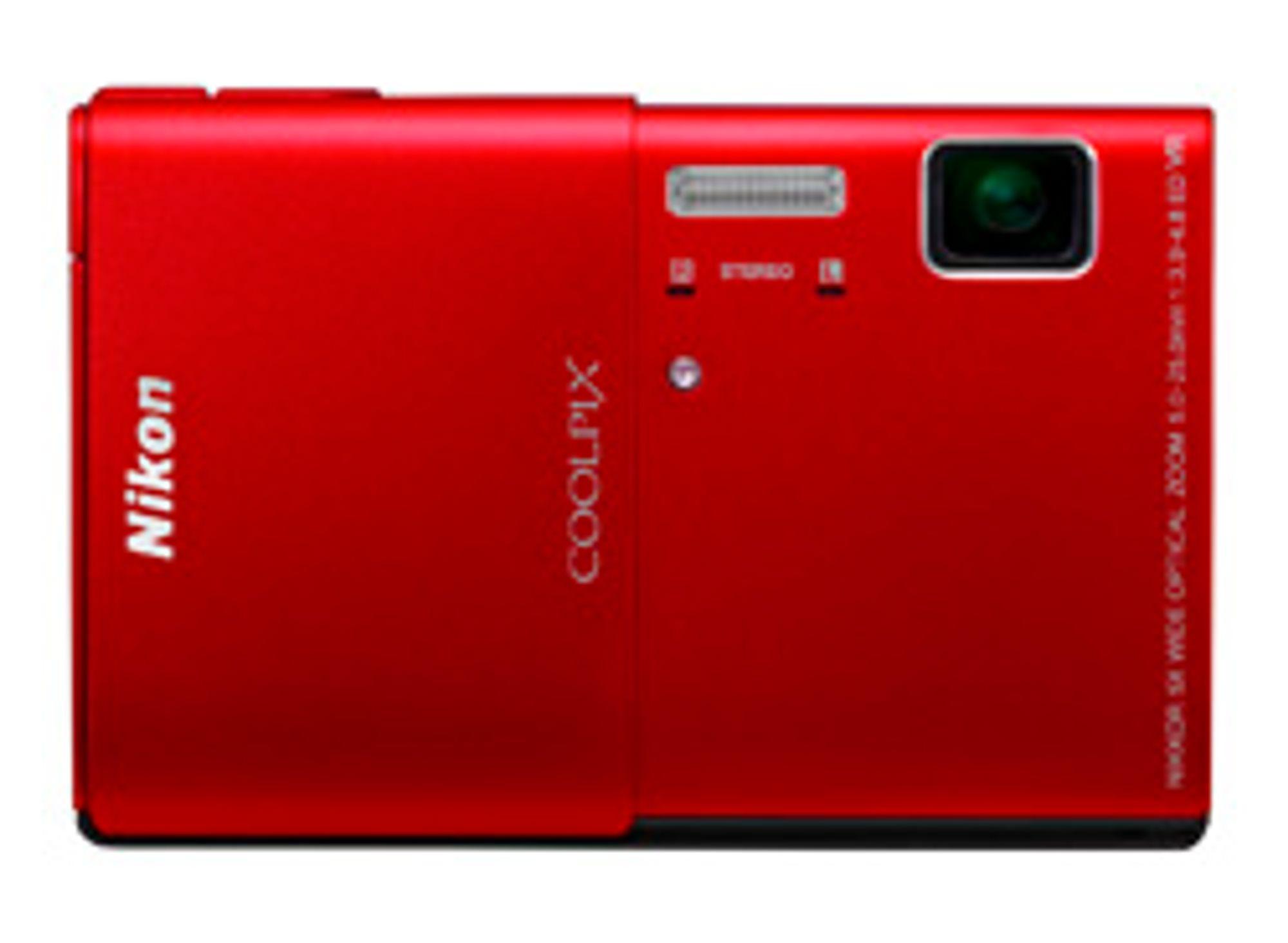 Nikon Coolpix S100 kommer også i fargene rosa og svart.