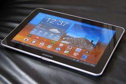 Bør føle seg truet: Samsungs nettbrett Galaxy Tab 10.1.