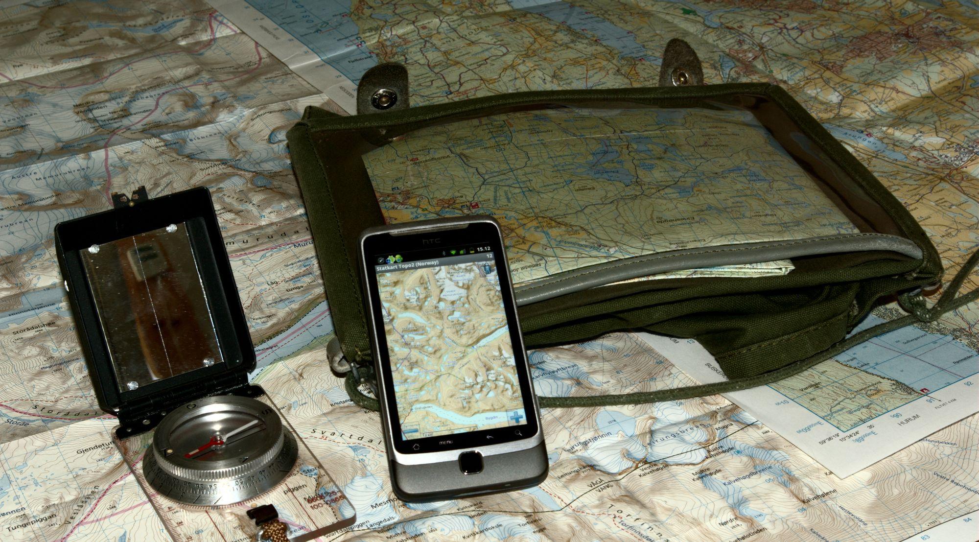 kart med høydekoter TEST: Apps for navigasjon i skog og mark   Kartene   Tek.no kart med høydekoter