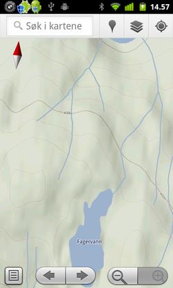Google Maps er et enkelt og greit kartprogram som også viser terrenget.