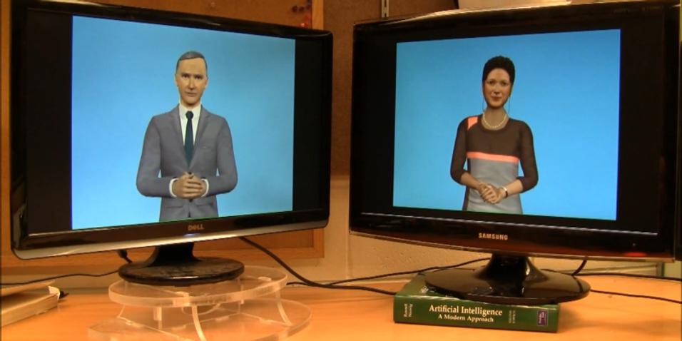Disse datamaskinene snakker med hverandre