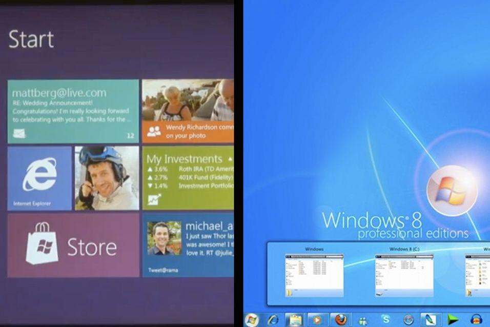 Hva ville du gått for? Det enkle Metro-grensesnittet, eller den mer «vanlige» grensesnittet vi kjenner fra Windows 7?