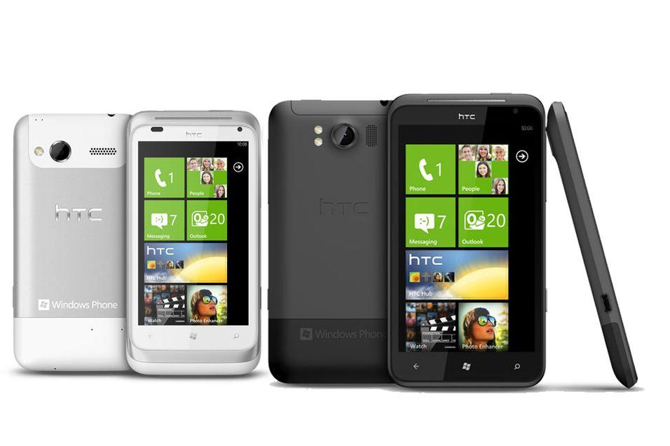 HTC er en av mange produsenter som satser på smartmobiler med store skjermer. HTC Titan (til høyre) har 4,7-tommers skjerm.