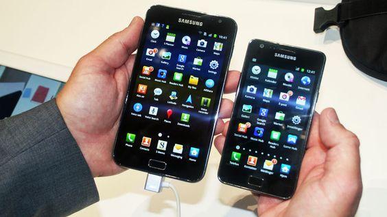 Samsung Galaxy Note sammenliknet med