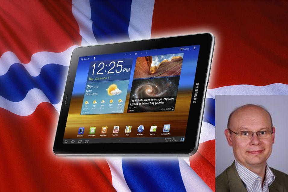 Den norske lanseringsdatoen av Galaxy Tab 7.7 blir ikke endret, forteller Samsungs nordiske pressesjef Erik Johannesson.