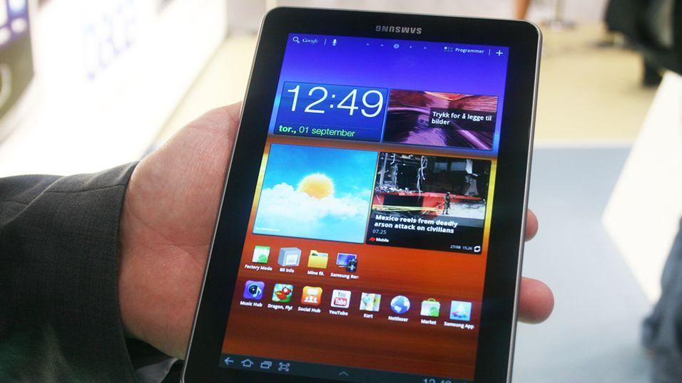 SNIKTITT: Er Samsung Galaxy Tab 7.7 verdens største mobiltelefon?