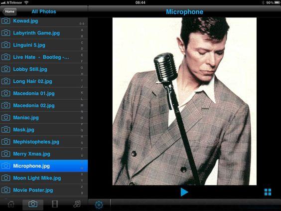 Bilder kan vises som forhåndsvisning, i et rutenett eller i full størrelse. Slik ser det ut på en iPad.