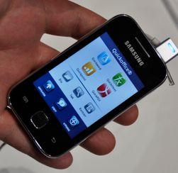 Galaxy Y er en av de få nye Samsung-telefonene som leveres uten kontorpakke i fullversjon. Du kan likevel åpne dokumenter på den.