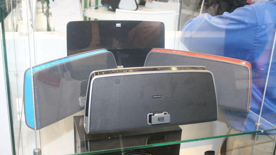 iPhone-høyttaler ser ut som håndveske