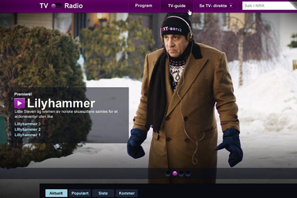 Skjermbilde av en betautgave av den nye nett-TV-tjenesten til NRK. Foto: NRK