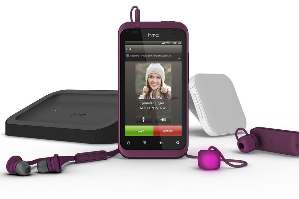 Det meste av tilbehør til HTC Rhyme kommer i matchende farger.