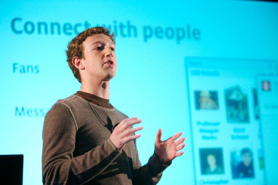 Mark Zuckerberg, Facebooks grunnlegger, presenterte en rekke nyheter i går kveld. (arkivfoto)
