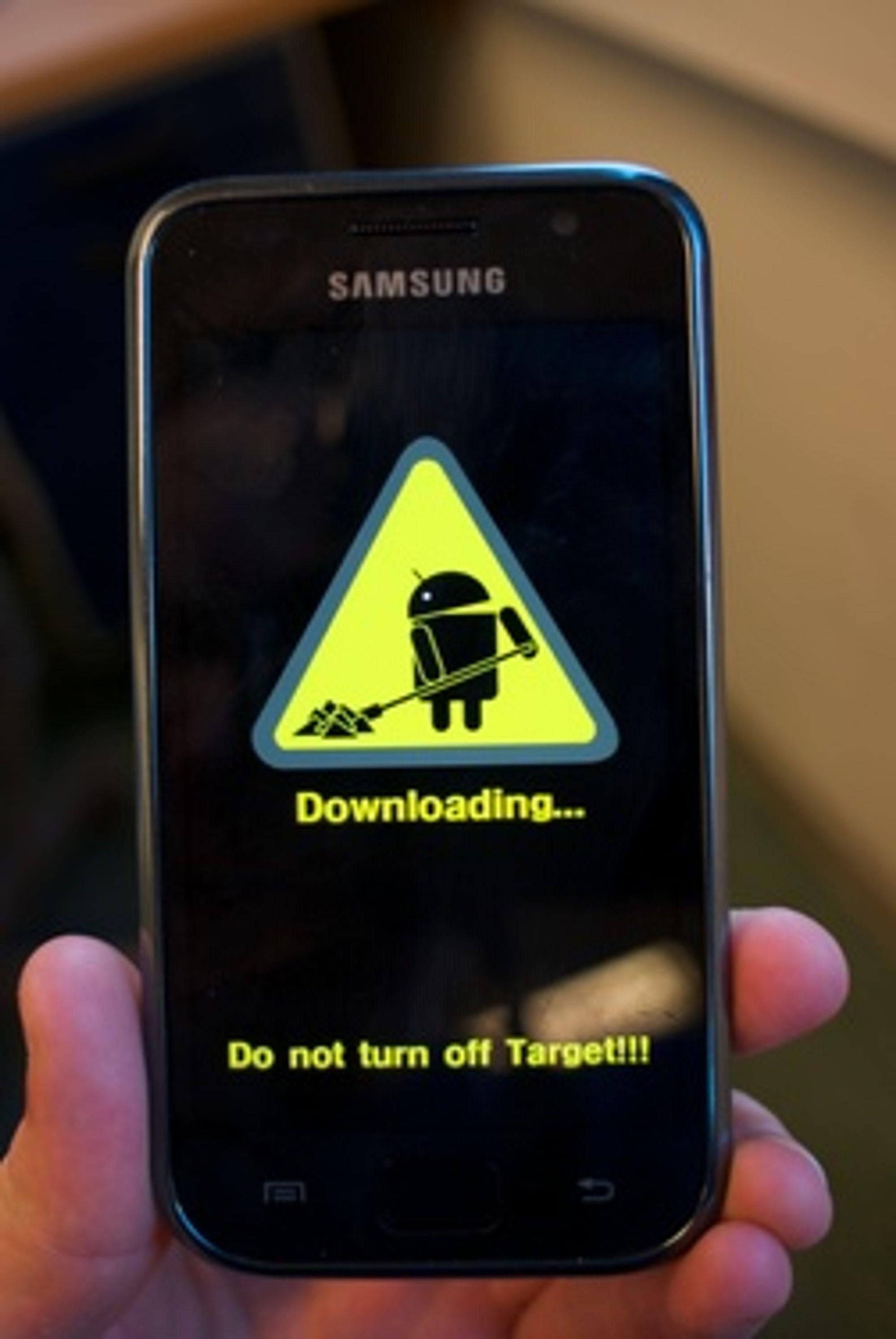 Ofte kan du laste ned ROM direkte til mobilen din.