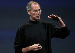 Tidligere Apple-sjef Steve Jobs under en lansering i 2008. Det er lite sannsynlig at han dukker opp på iPhone 5-lanseringen.