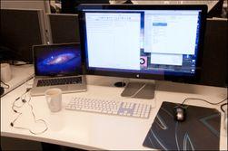 Med en Thunderbolt-skjerm på pulten åpnet det seg en ny verden