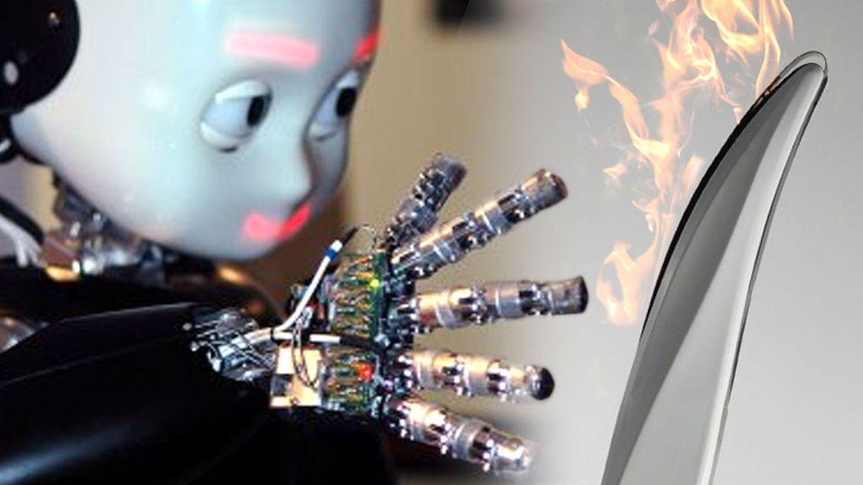 Robot kan få bære den olympiske ild
