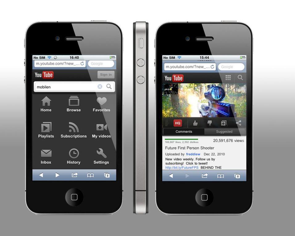 Det nye designet er mørkere enn før, og du kan nå blant annet like og abonnere på videoer du ser.