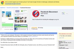Facebook Disconnecter fungerer kun til Google Chrome.