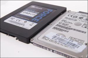 7 mm harddisk og 9,3 mm SSD – det er stor høydeforskjell.